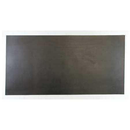 E. JAMES 1/16' Comm. Grade Buna-N Rubber Sheet, 12'x24', Black, 60A, 4060-1/16B