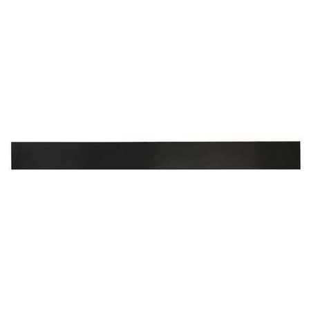 E. JAMES 1/4' Comm. Grade Neoprene Rubber Strip, 2'x36', Black, 60A, 6060-1/4X