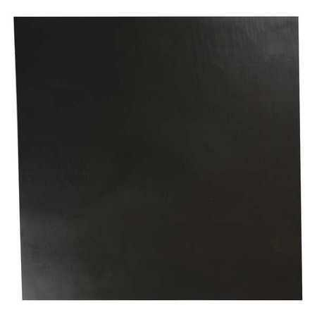 E. JAMES 1/4' Comm. Grade Buna-N Rubber Sheet, 12'x12', Black, 50A, 4050-1/4A