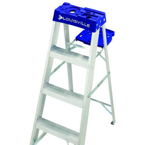 Louisville Ladder AS2108 8 ft. Aluminum Step Ladder, Type I, 250 lbs. Load Capacity