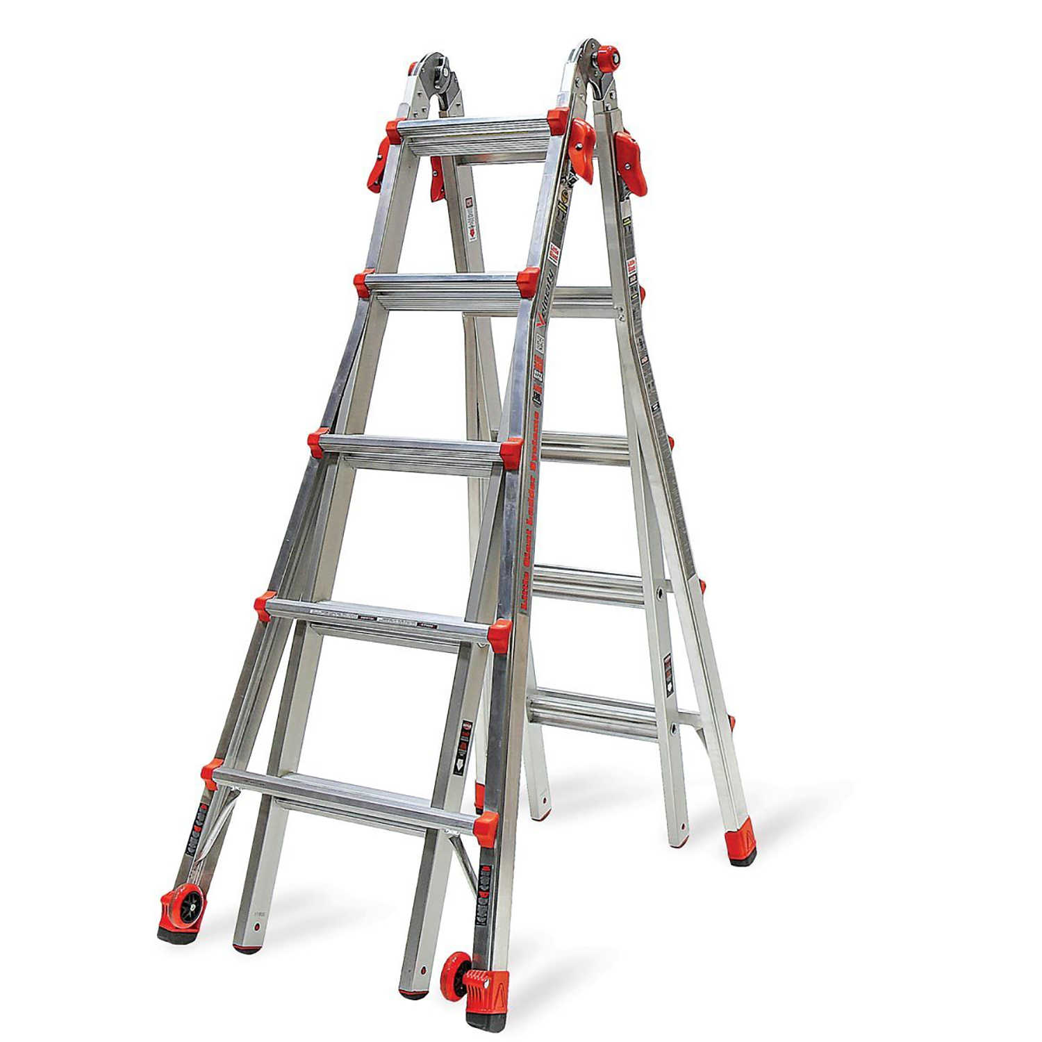 Little Giant Ladder Systems 22 Ft Aluminum Ladder w/ 375 LB Rated Work Platform