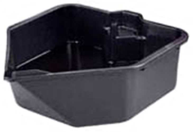 6380 6Qt Drain Pan with Filter Post, Midwest Can Company, EACH, EA, Drain pan wi