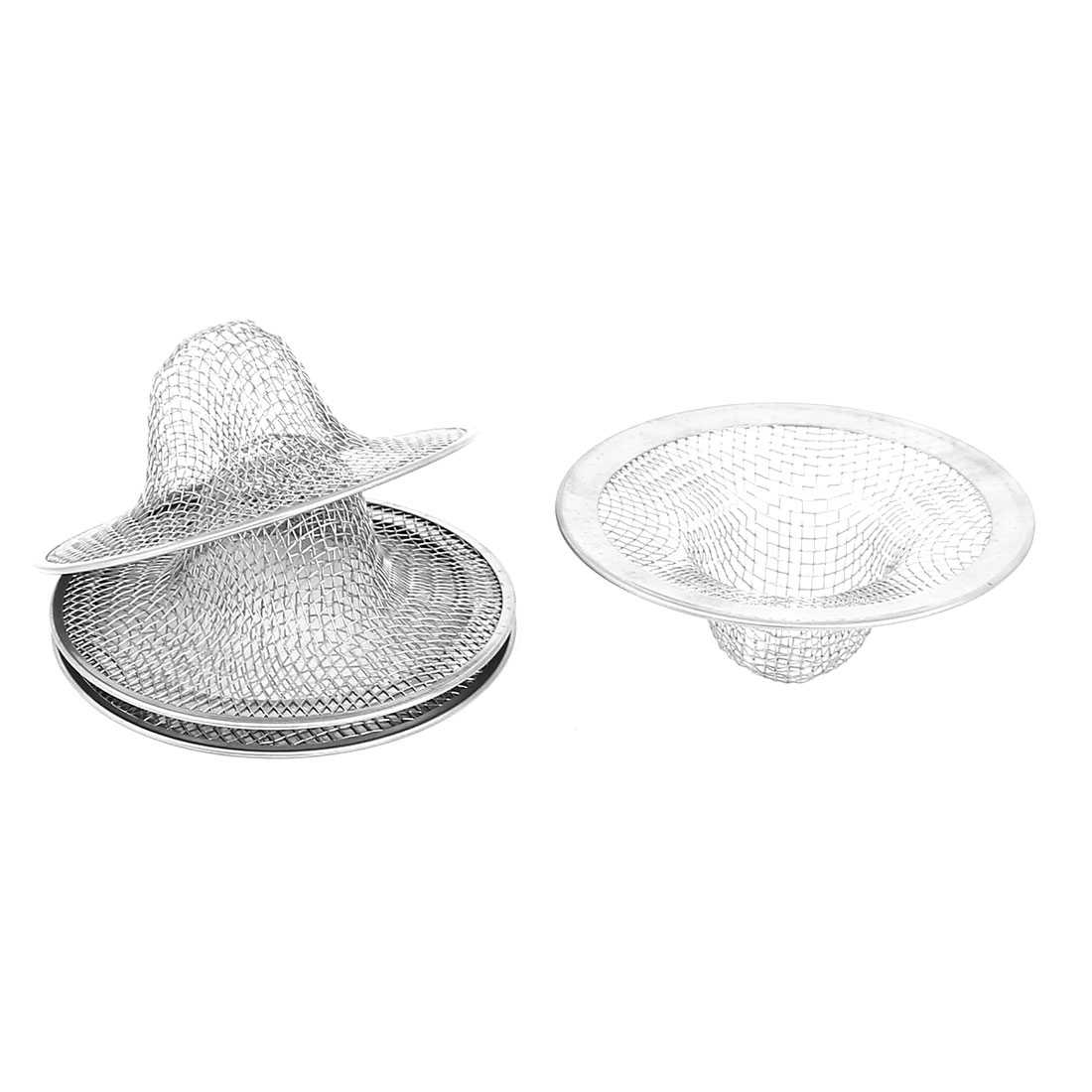 4Pcs Home Kitchen Bathroom Mesh Hole Basin Drain Sink Strainer