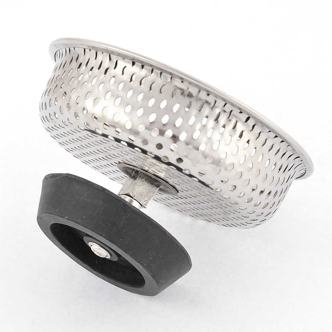 Unique Bargains Kitchen Bathroom Sink Drain Strainer Screen Stopper Metal Filter Basket 83mm Dia
