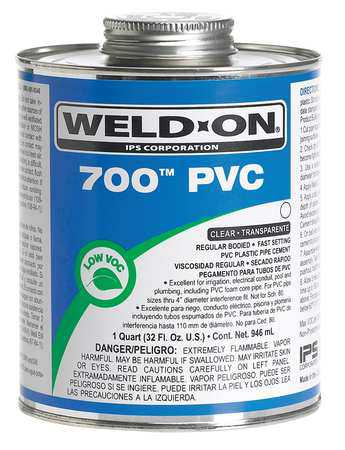 Weld-On 13970 Clear Pipe Cement, 8 Oz