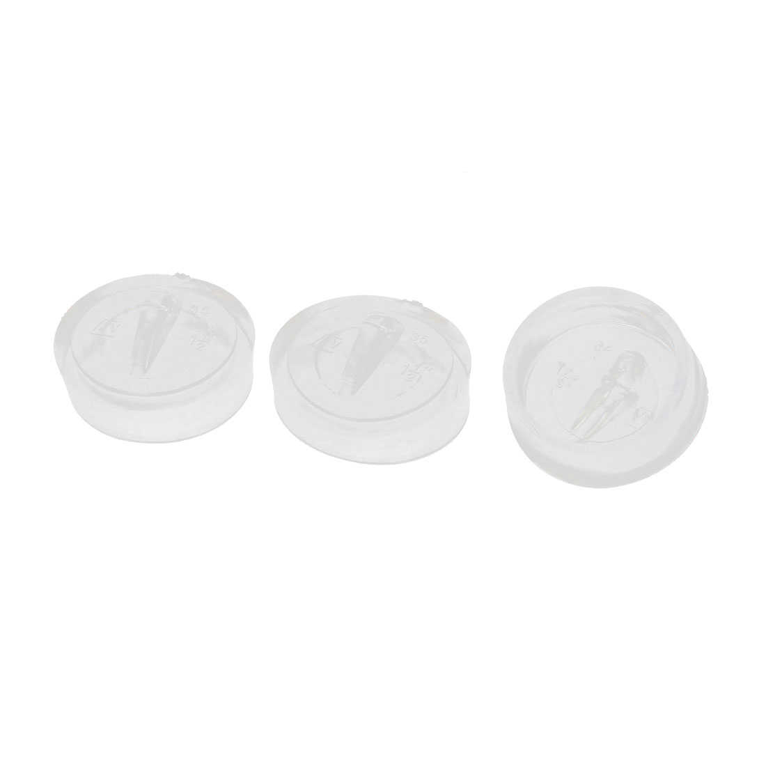 Kitchen Water Sink Basin Rubber Plug Garbage Disposal Stopper Clear 3 Pcs