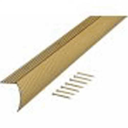 M-D 79020 Fluted Stair Edging, 1-1/8 in W X 36 in L X 1-1/8 in H, Gold