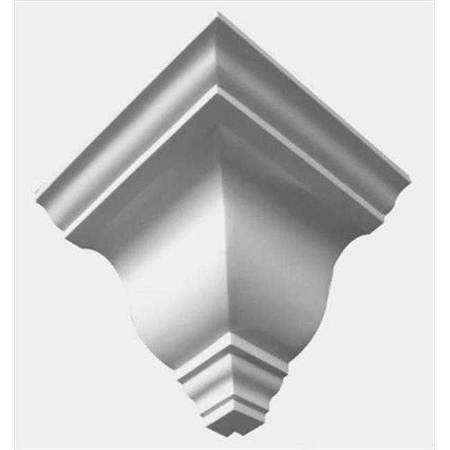 American Pro Decor 5APD10136 5.31 in. Plain Outside Corner For Crown Moulding