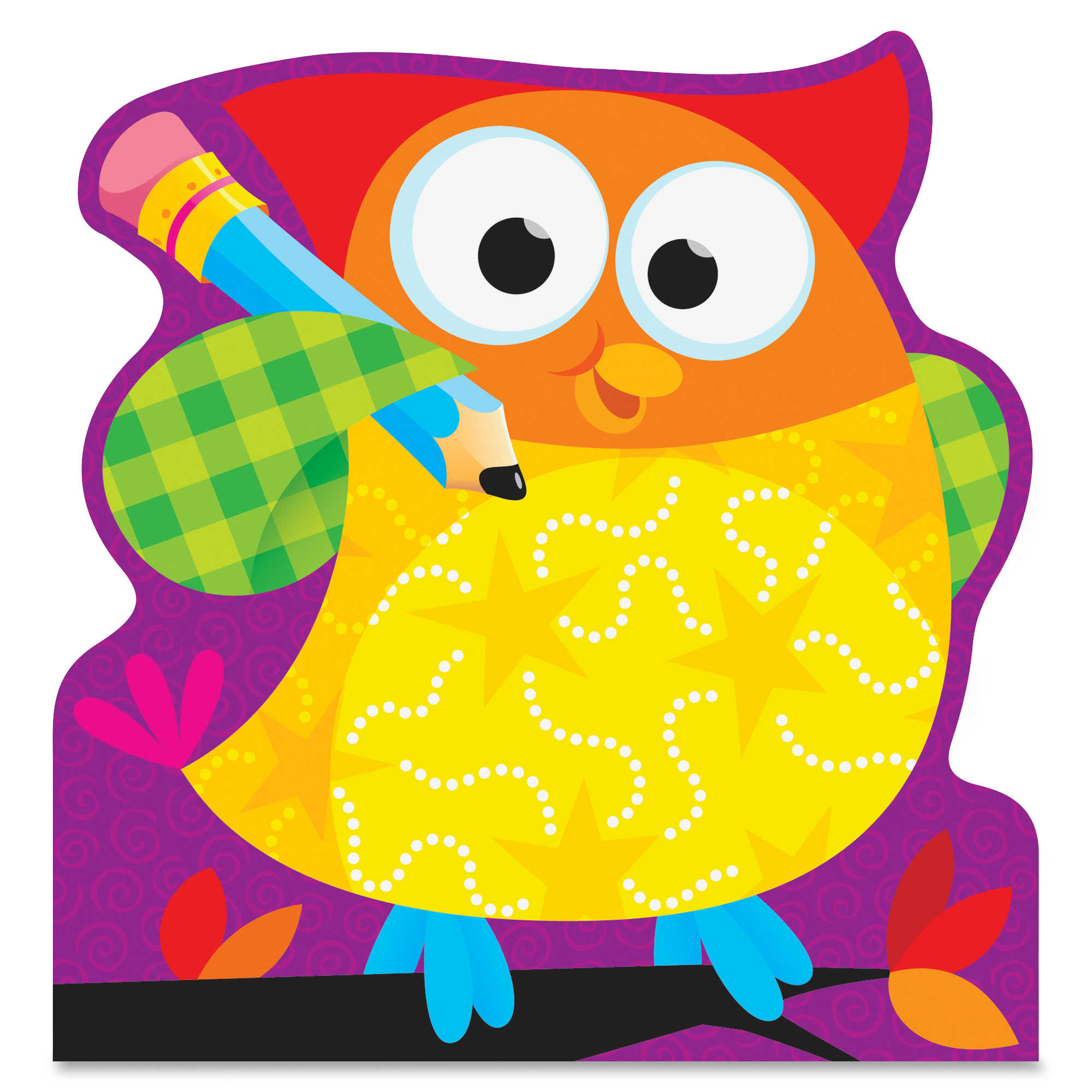 Trend Owl-stars Shaped Note Pads - 50 Sheets - Printed - 5' X 5' - Multicolor Paper (tep-72076)