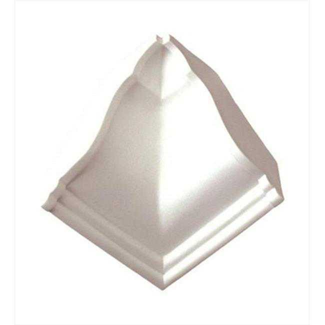 American Pro Decor 5APD10116 4.75 x 4.75 in. Plain Inside Corner For Crown Moulding
