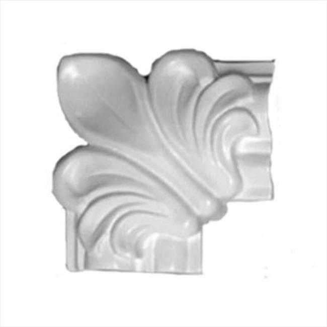 American Pro Decor 5APD10189 3 x 3 in. Floral Wooden Panel Moulding Corner