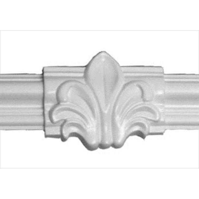 American Pro Decor 5APD10190 2.75 x 3.25 in. Floral Wooden Panel Moulding Corner
