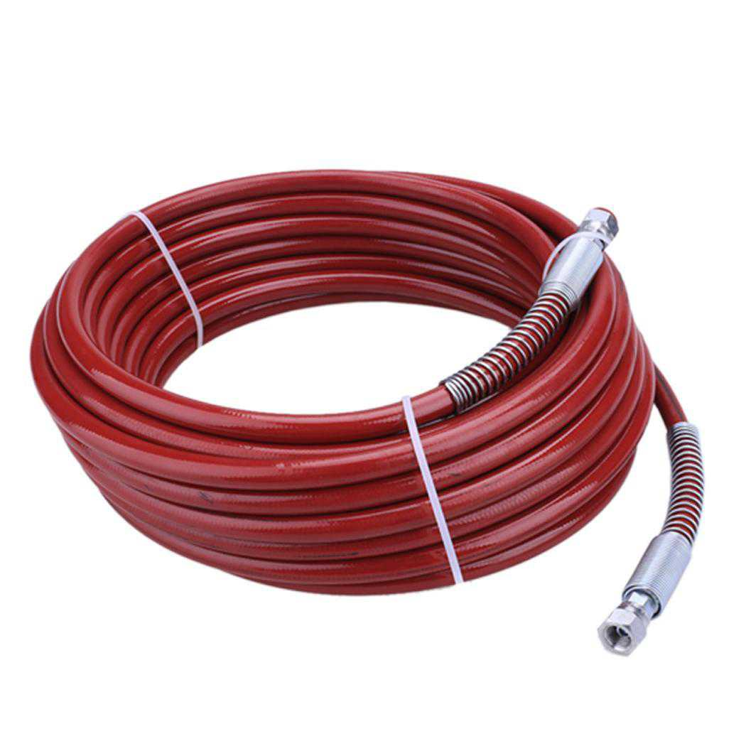 Shopifystore Airless Paint Sprayer Hose High Pressure Hose Red 15m 1/4inch