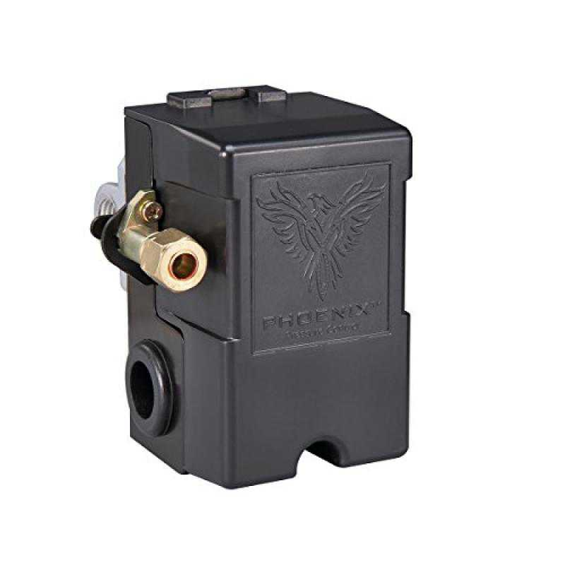 Phoenix Pressure Control 69MB8LY2C 115/150 PSI 4-Port Air Compressor Switch with Unloader & Auto/Off (Furnas type)