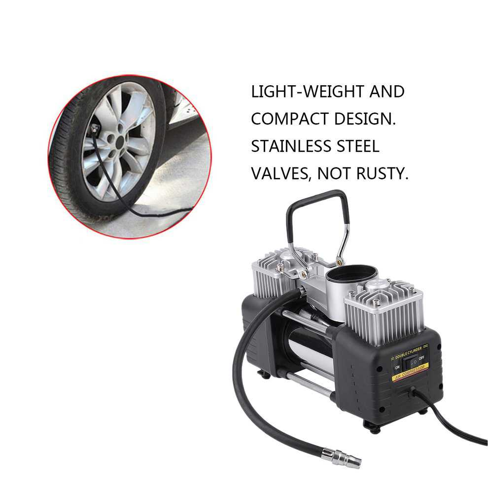 2017 New 12V Portable Heavy Duty Pump Electric Tire Inflator Car Air Compressor 150PSI For Inflating Balls Toys Car Tyre