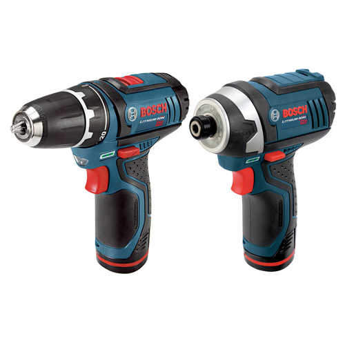 Factory-Reconditioned Bosch CLPK22-120-RT 12V Cordless Lithium-Ion 3/8 in. Drill Driver and Impact Driver Combo Kit (Refurbished)