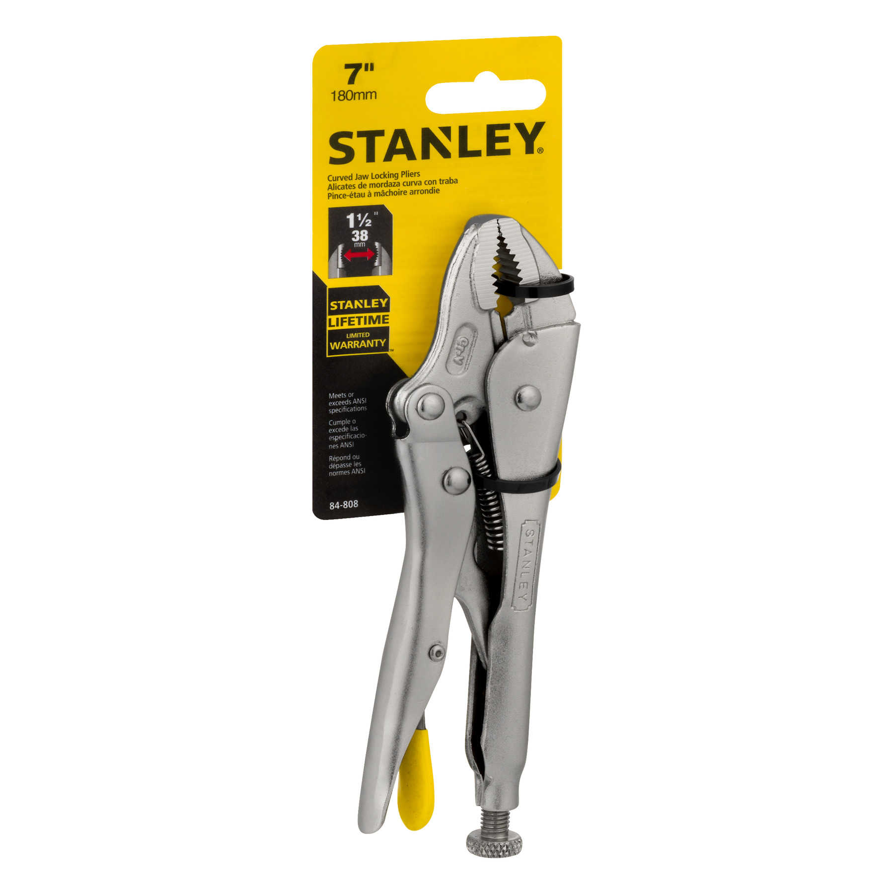 Stanley Curved Jaw Locking Pliers 7', 1.0 CT