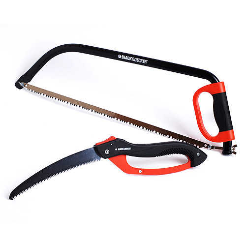 Black & Decker HD Pruning Saw and 24'' Bow Saw
