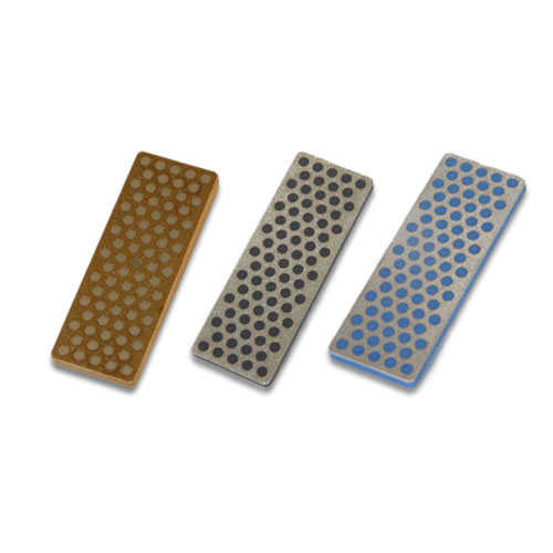 3 DMT Diamond Stones, 70 mm, Gray, Black, Blue
