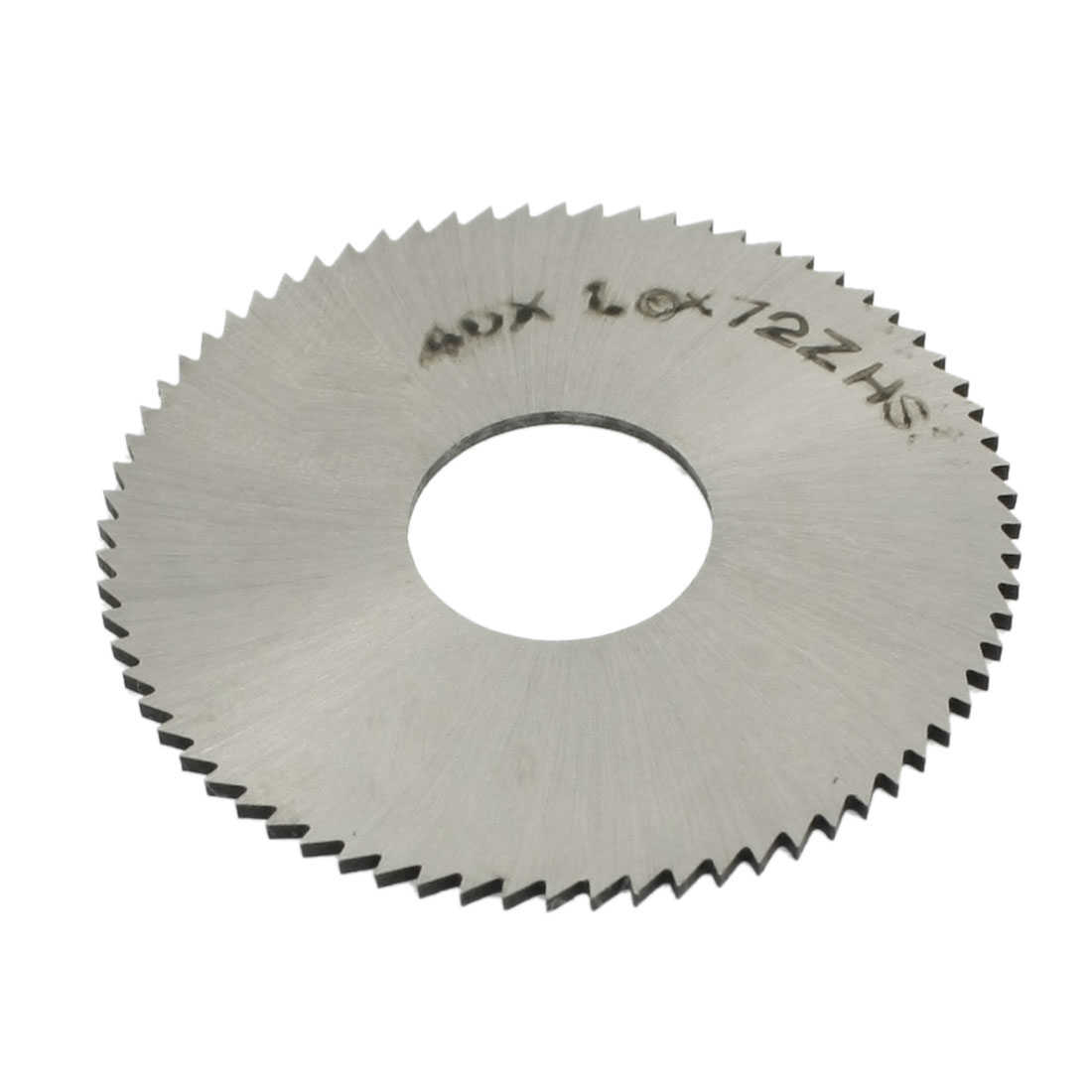 Unique Bargains Silver Tone Toothed 40mm x 1mm x 13mm 72T HSS Saw Blade Milling Cutter