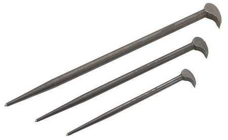 Stanley 12', 16', 21', Pry Bar Set, Alloy Steel, J2138