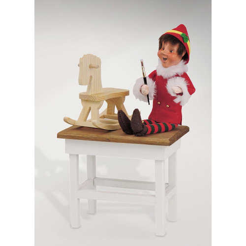 Byers' Choice Carolers Burl - Christmas Elf on Workbench