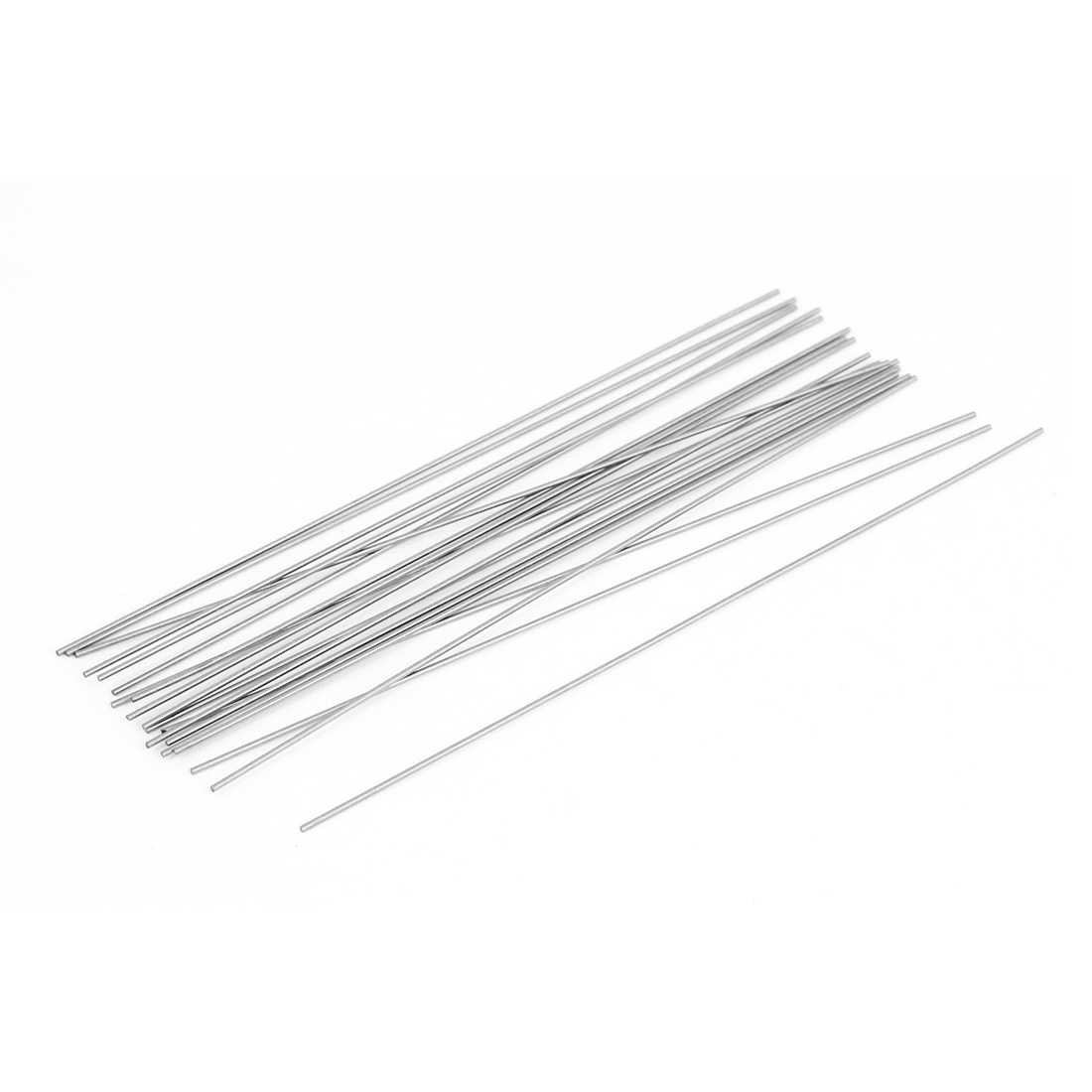 20 Pcs 100mmx0.7mm Steel Turning Tool Lathe Bars Round Stock Silver Tone