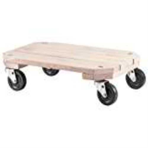 Shepherd 9854 Furniture Dolly, 360 lb 25 in L x 18-1/4 in W x 12-1/2 in H, Solid Wood