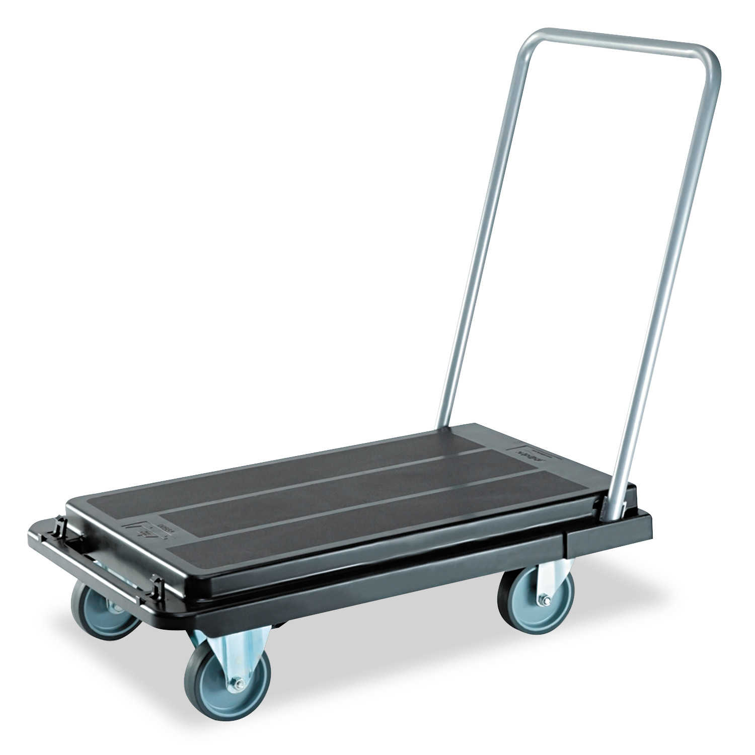 deflecto Heavy-Duty Platform Cart, 500lb Capacity, 21w x 32 1/2d x 37 1/2h, Black