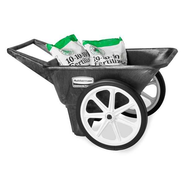 RUBBERMAID Wheelbarrow,HDPE,3-1/2 cu. ft. FG565461BLA
