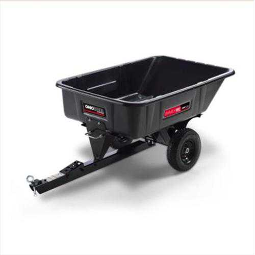 10 CF poly swivel dump cart