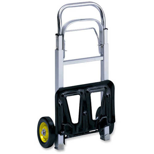 Safco Hideaway Compact Hand Truck, Silver