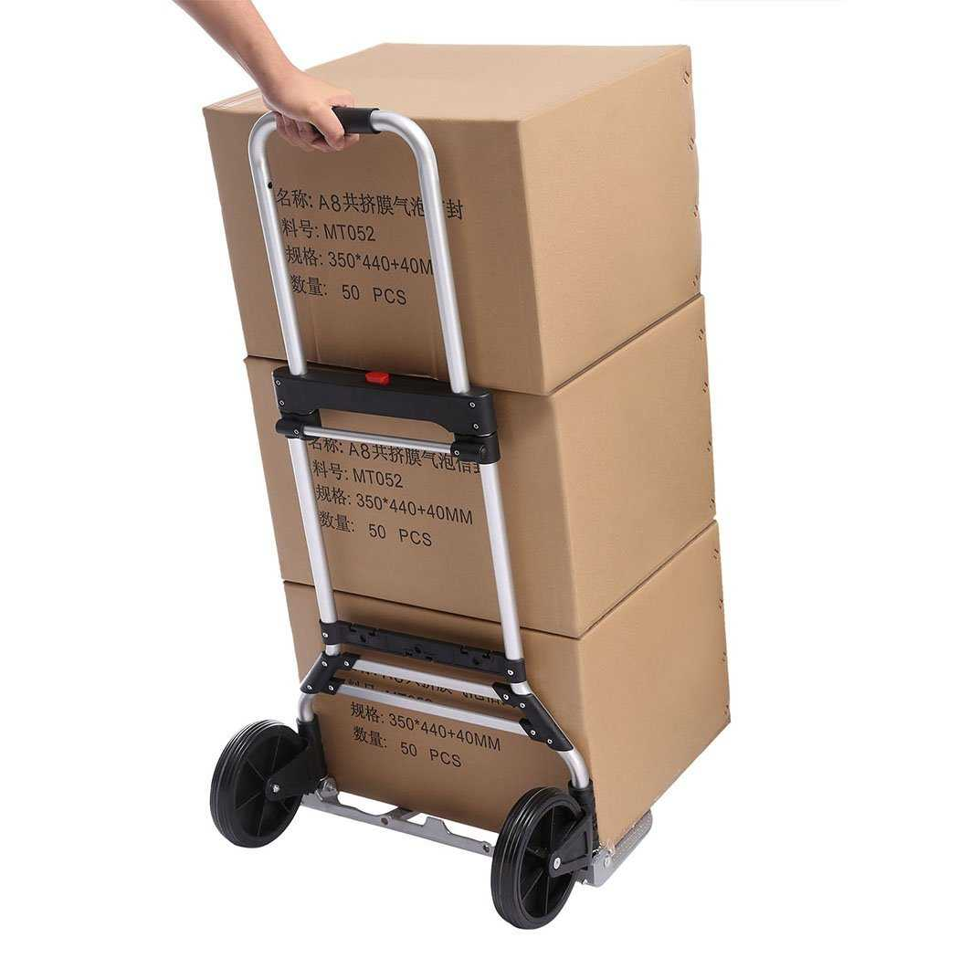Telescoping Portable Folding 150 lbs Hand Truck Dolly Luggage Carts Aluminum Alloy BTC