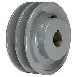3.15' x 1/2' Double V Groove Pulley / Sheave # 2BK30X1/2