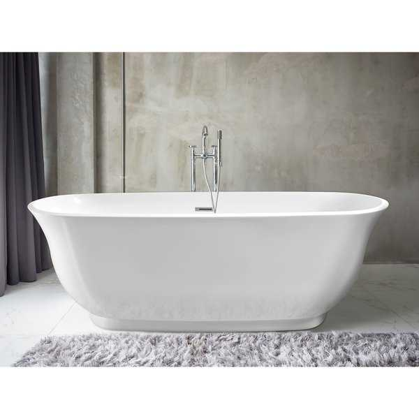 Imperial 59' x 28' White Oval Soaking Bathtub