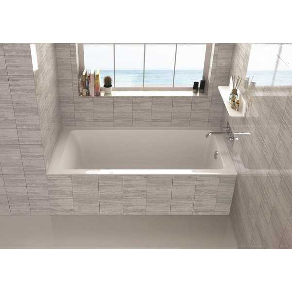 Fine Fixtures Alcove Bathtub With Right Side Fixed Tile Flange (32' x 66')