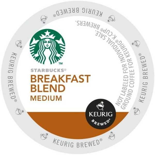 Starbucks Breakfast Blend, K-Cup Portion Pack for Keurig Brewers