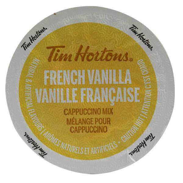 Tim Hortons French Vanilla Cappuccino With Sweet and Creamy Coffee Flavors, Single Serve Cups for Keurig Brewers 8 Count