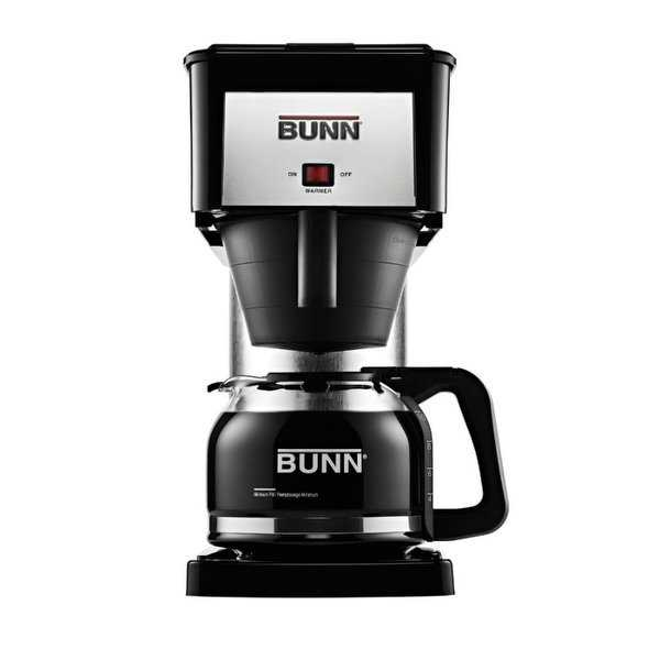 Bunn BXB Velocity Brew Coffee Brewer w/ Carafe, 10-Cup, Black & Stainless Steel