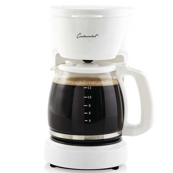 Continental Electric 12-Cup Coffee Maker White